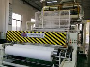 Melt Spray Fabric / Melt Blown Fabric Machine , Non Woven Fabric Manufacturing Plant single screw whithe and blue,