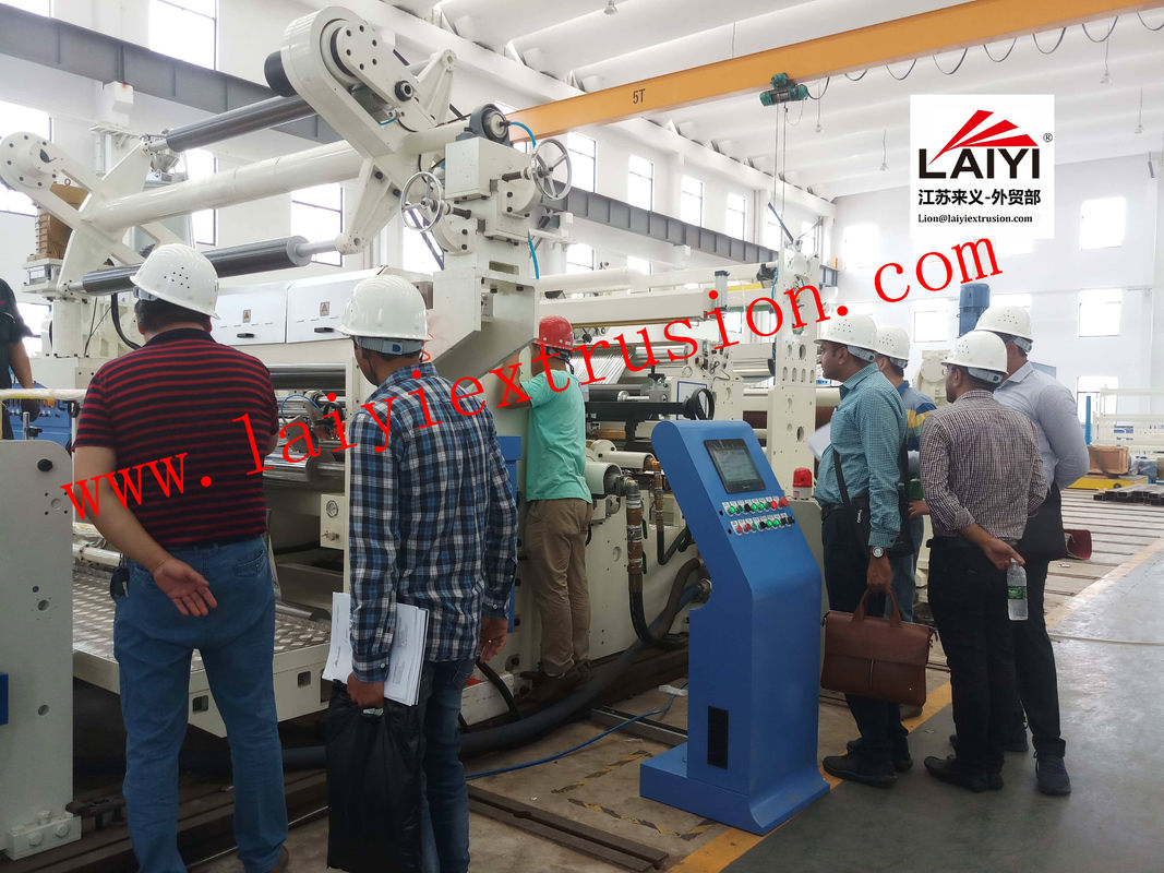 Strong Adaptable Poly Coating Machine , Air Shaft Dry Lamination Machine