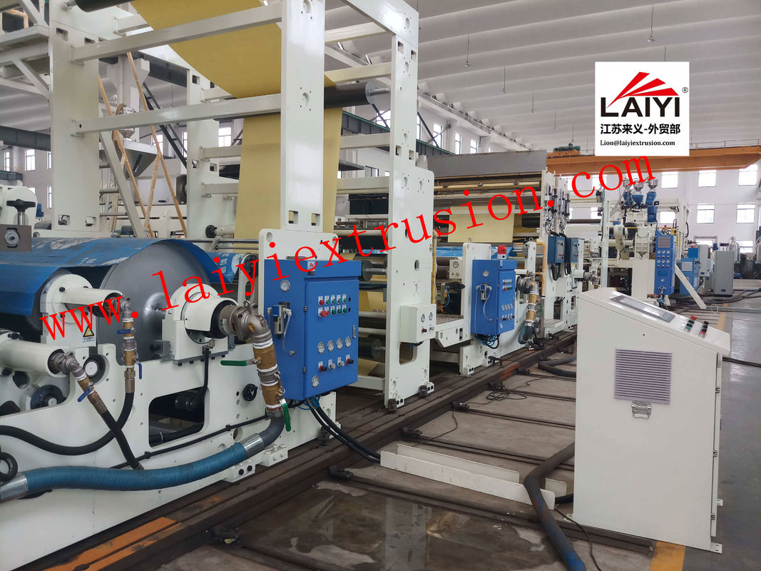 High Precision Adhesive Coating Automatic Paper Lamination Machine 45-55kw Extruder Power